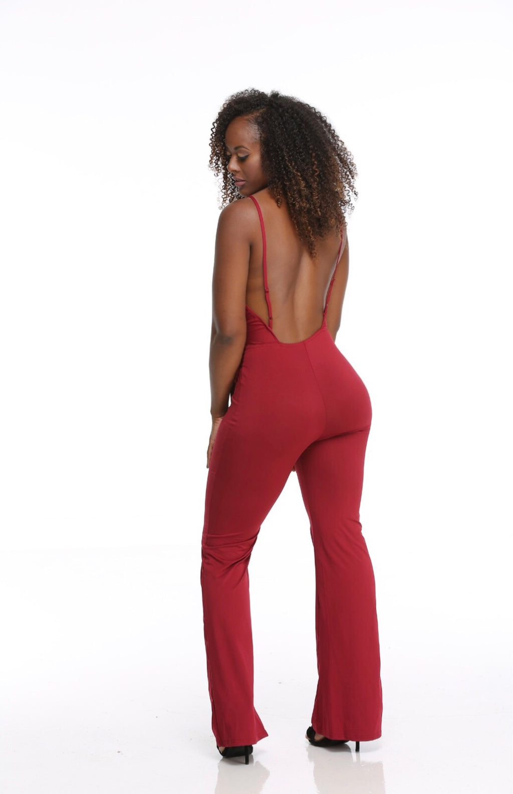 Backless wrap pant suit