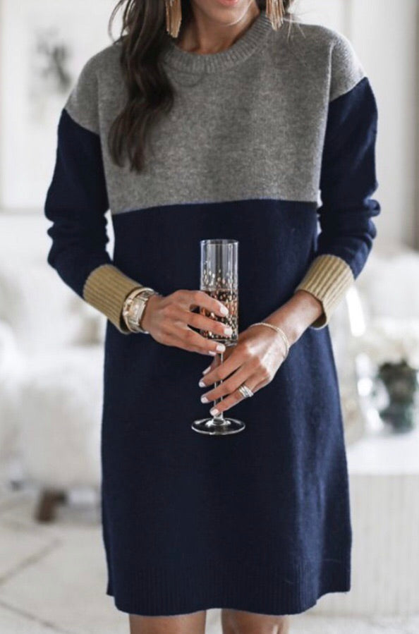 Collegiate sweater dress-Clearance!