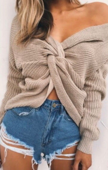 Sweet and twisted sweater-Clearance!