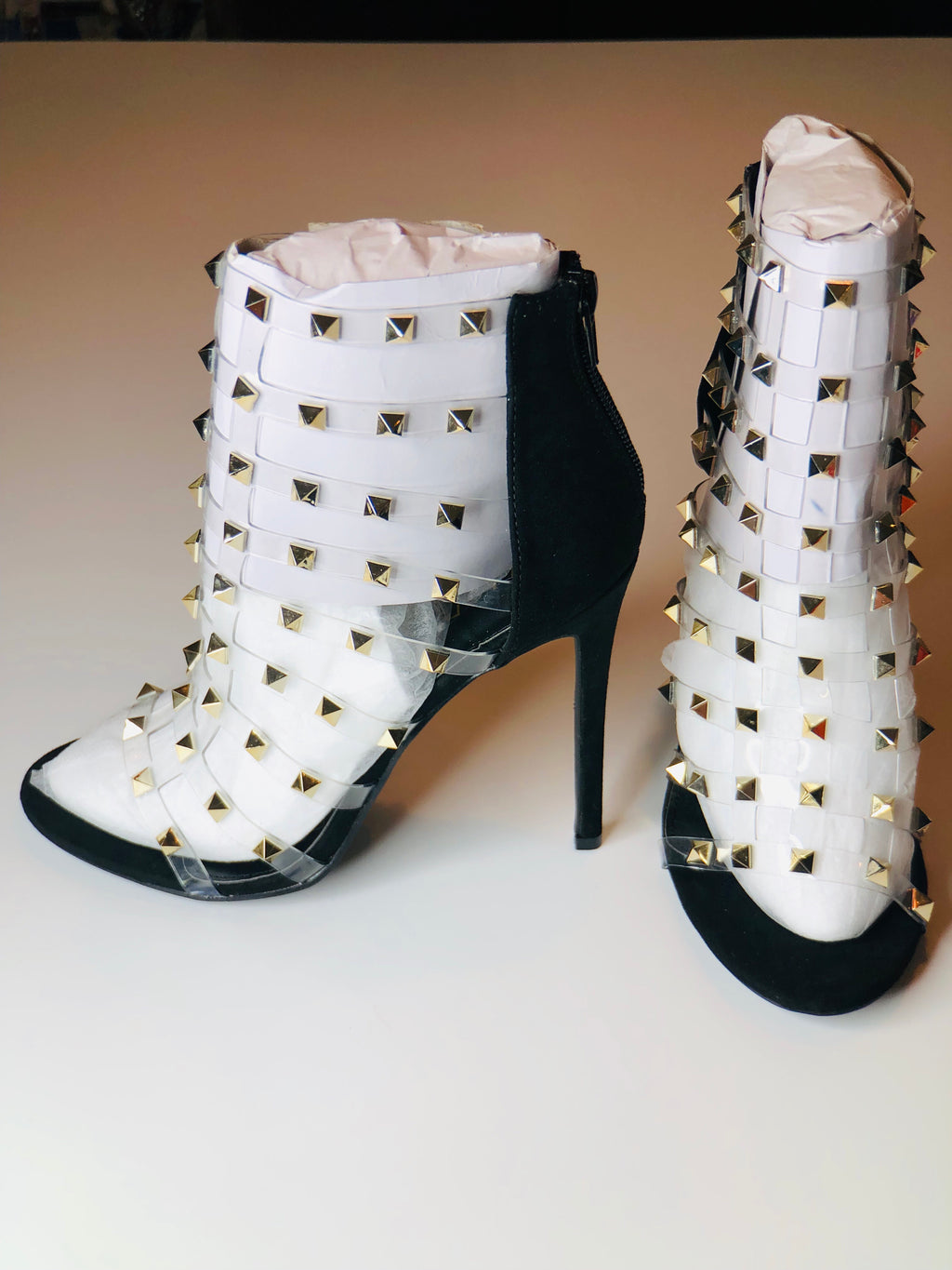 Studded open toe heel-More colors!
