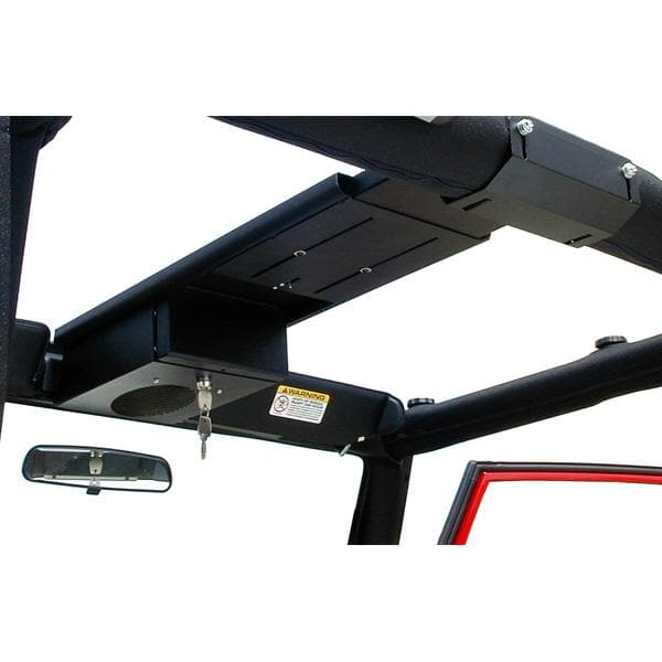 Tuffy Single Compartment Overhead Console, Black | 1964-2006 Wrangler YJ, TJ, TJL, CJ7, CJ5, Samurai, FJ-4, 103-01