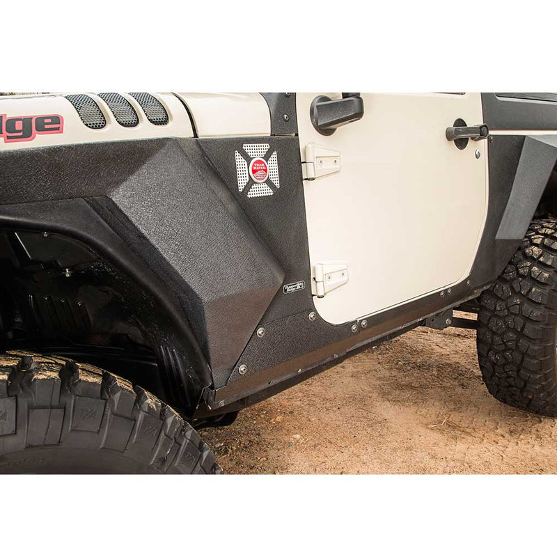 Jeep Rugged Ridge Xhd Body Armor Cladding, Steel, Textured Black, Exterior Car Parts | 2007-2017 Wrangler JK, 11615.11