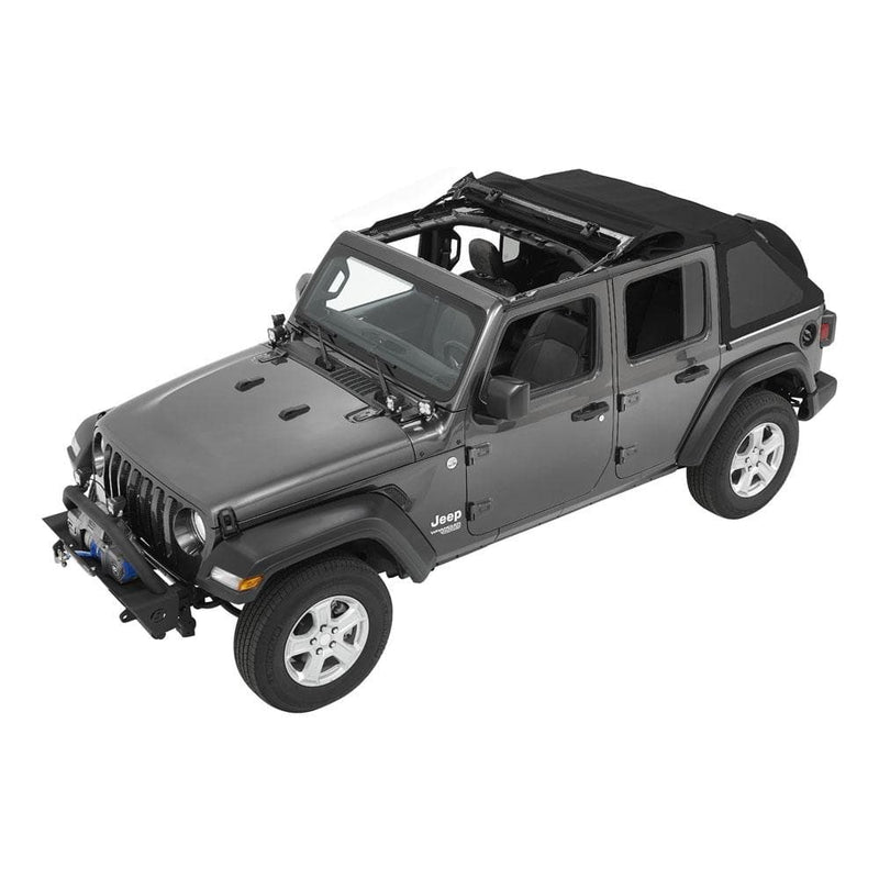 Jeep Bestop Trektop Nx Soft Top With Tinted Side & Rear Windows, Black Diamond | 2018-2020 Wrangler JL Unlimited, 56863-35