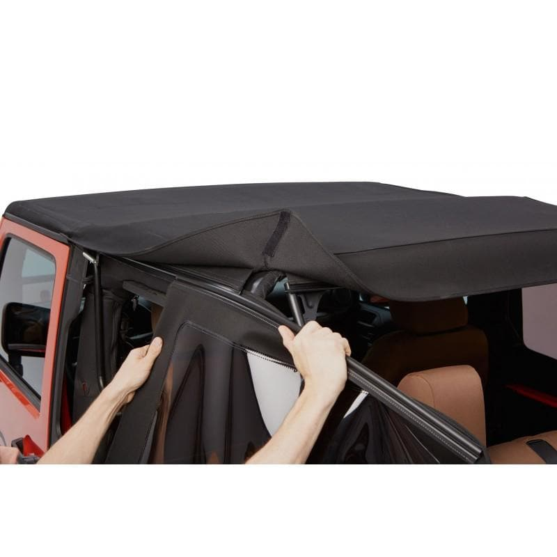 Bestop Trektop Nx Glide Soft Top With Tinted Side & Rear Windows, Black Twill, 54922-17