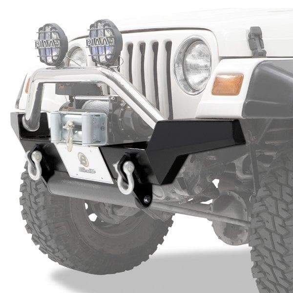 Bestop High Access Front Bumper, Highrock 4X4, Satin Black | 1997-2006 Wrangler TJ & TJ Unlimited, 42917-01