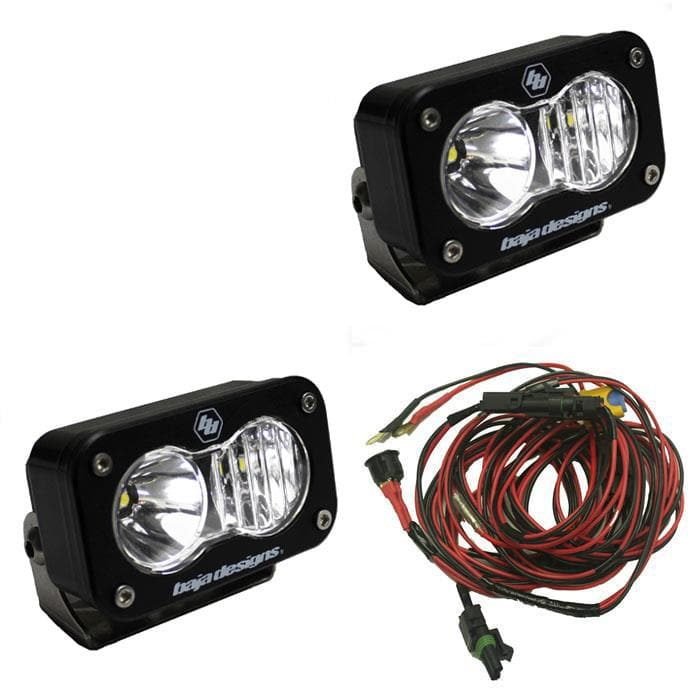 Baja Designs S2 Pro Driving/combo Beam Led Lights, Black, Pair, BAJA-487803