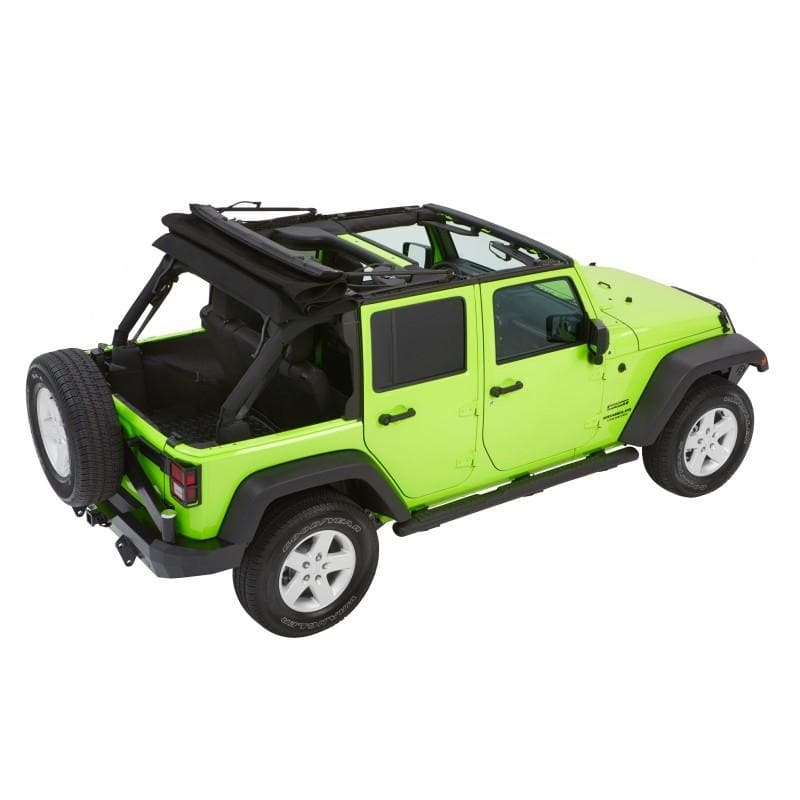 Bestop Trektop Nx Glide Soft Top With Tinted Side & Rear Windows, Black Diamond | 2007-2017 Wrangler Unlimited JK, 54923-35