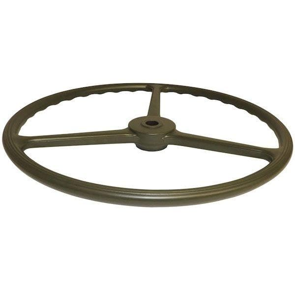 "Crown 3-Spoke Steering Wheel, 17"" Diameter, Green, Interior Car Parts, Wheel Parts 