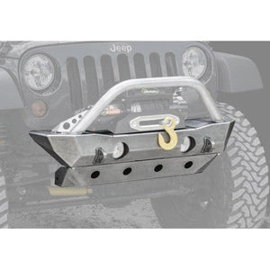 Jeep Lod Destroyer Shorty Front Bumper, Bare Steel, Exterior Car Parts | 2007-2017 Wrangler JK & Wrangler Unlimited JK, LOD-JFB0700