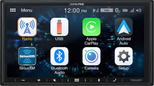 "Alpine Ilx-W650 7"" Mechless In-Dash Receiver With Apple Carplay And Android Auto, Interior Car Parts, ALP-ILX-W650"