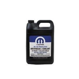 Mopar 50/50 Prediluted Antifreeze/coolant, 5-Year/100,000 Mile, 1 Gallon Bottle, 68051212AB