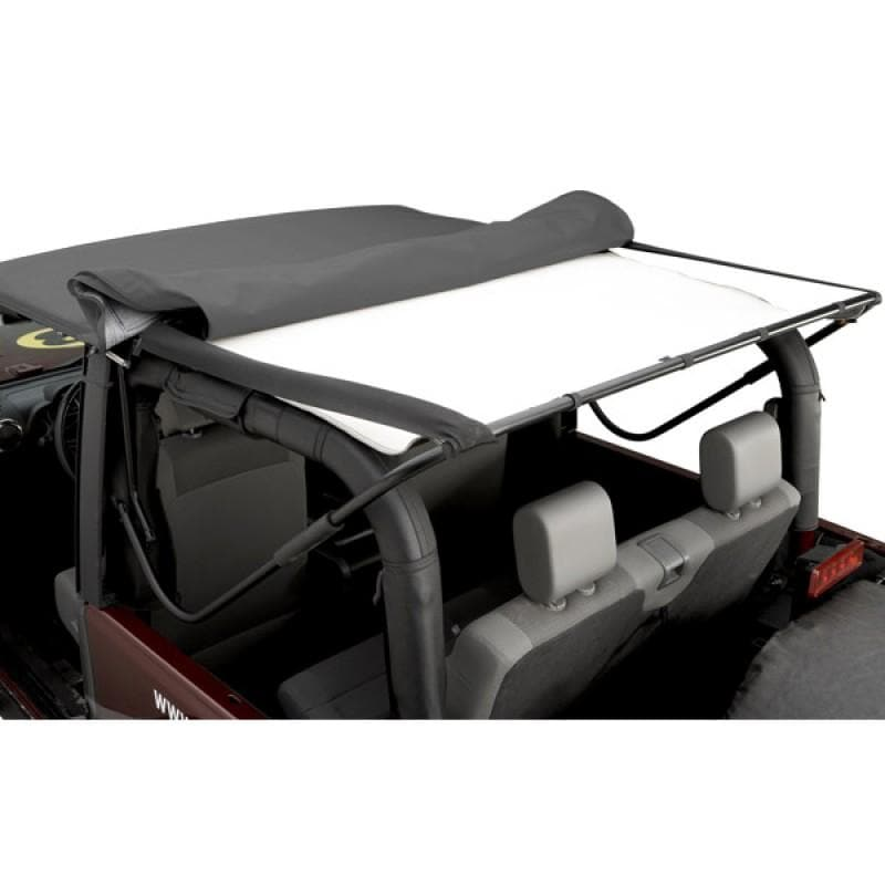 Bestop Headliner Black | 2004-2006 Wrangler Unlimited TJL with Soft Top, 51819-01