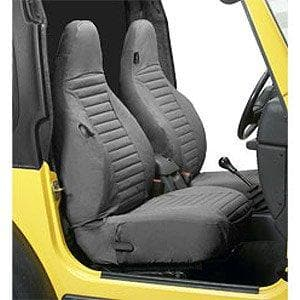 Bestop Seat Cover Hi Back Bucket Pair Charcoal, Interior Car Parts | 1997-2002 Wrangler TJ, 29226-09