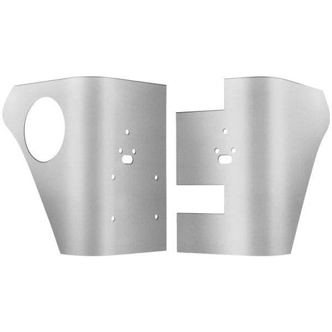 Jeep Warrior Rear Corners For Bushwacker Fender Flares With Cutouts, Smooth Polished Aluminum, Pair, Exterior Car Parts | 1997-2006 TJ With Cutouts