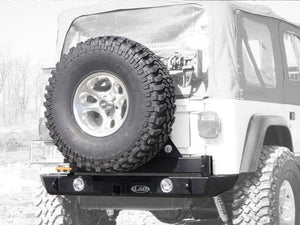 Jeep Lod Signature Series Rear Bumper And Tire Carrier, Bare Steel, Exterior Car Parts | 1997-2006 Wrangler TJ & Wrangler Unlimited TJL,