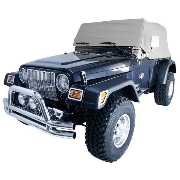 Jeep Smittybilt Cab Cover Without Door Flap, Water Resistant, Gray Denim | 1992-2006 Wrangler TJ, YJ, 1161