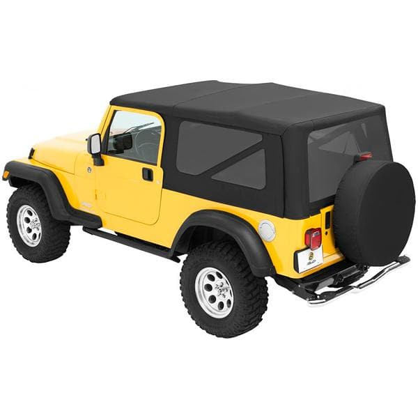 Jeep Bestop Sailcloth Replace-A-Top With Tinted Side And Rear Windows, No Doors, Black Diamond | 2004-2006 Wrangler Unlimited TJL, 79140-35
