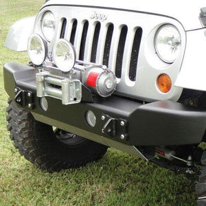 Lod Armor Lite Bolt-On Auxiliary Light Mount, Bare Steel, Exterior Car Parts | LoD Armor Lite Shorty & Midwidth Front Bumpers for JK, LOD-JKA1009N