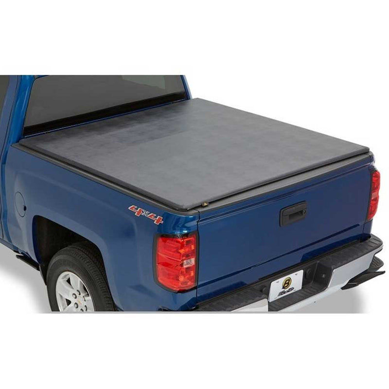 Bestop Ez Fold Soft Tonneau Black, 6.3' | 2006-2009 Dodge Ram 6.3' Short Bed with Tailgate Spoiler, 16239-01