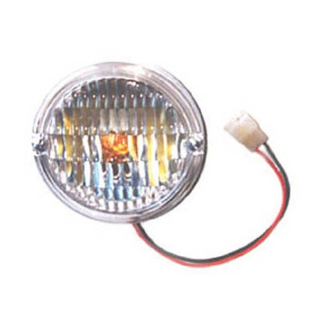 Jeep Omix Turn Signal Parking Light Assembly, Clear, Sold Individually, Exterior Car Parts | 1976-1986 CJ7 and CJ8 Scrambler, 12405.06