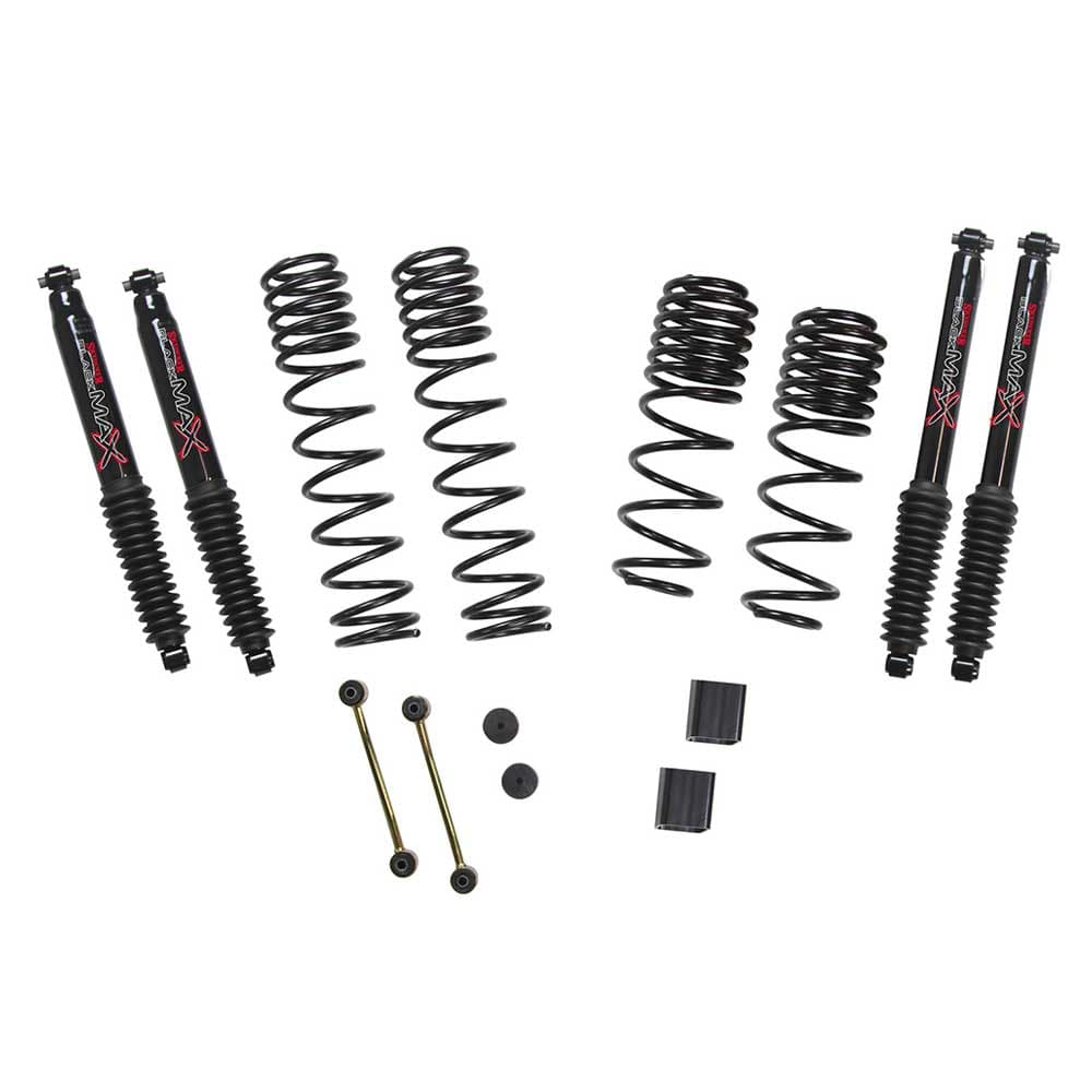 "Jeep Skyjacker 1-1.5"" Dual Rate Long Travel Lift Kit With Black Max Shocks (Rubicon Only), Suspension Parts 
