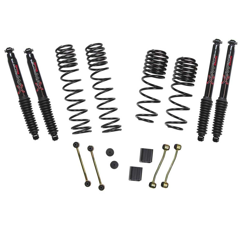 "Jeep Skyjacker 2-2.5"" Dual Rate Long Travel Lift Kit With Black Max Shocks (Rubicon Only), Suspension Parts 