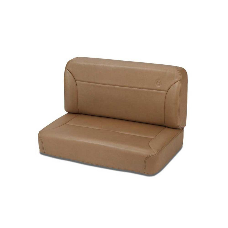 Jeep Trailmax Ii Rear Bench Seat Vinyl Fixed in Spice Brown | 1955-1995 CJ & Wrangler YJ, 39437-37