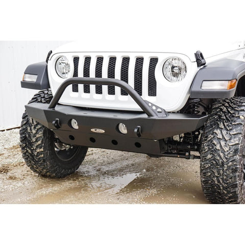 Jeep Lod Jl Destroyer Mid-Width Front Bumper With Bull Bar, Black Powdercoat, Exterior Car Parts | 2018 Wrangler JL & Wrangler JL Unlimited,LOD-JFB1813
