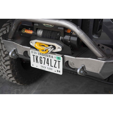 Lod Destroyer Front Bumper License Plate Mount, Bare Steel, Exterior Car Parts | 2007-2018 Wrangler JK/JL (2 & 4 Door), LOD-JLP0700