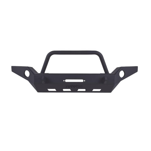 Havoc Offroad Front Full Width Bumper With Bull Bar For 07-18 Wrangler Jk/jku, Exterior Car Parts | 2007-2018 Wrangler JK & Wrangler JK
