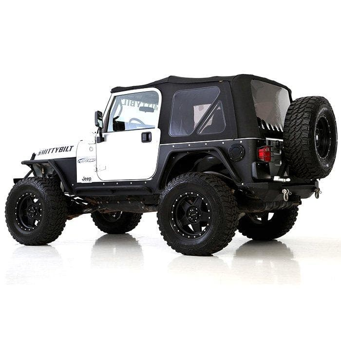 Smittybilt Premium Oem Replacement Canvas Soft Top With Tinted Windows, Black Diamond | 1997-2006 Wrangler TJ & Rubicon Models, SB-9974235