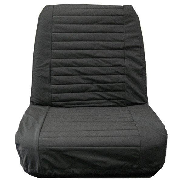 Jeep Bestop Seat Cover Low Back Bucket Pair Black Denim | 1965-1980 C5, CJ7, 29225-15