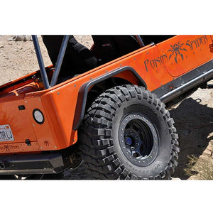"Jeep Poison Spyder Daddy Longlegs Crusher Corners With 3"" Defender Flares, Bare Steel, Pair, Exterior Car Parts 