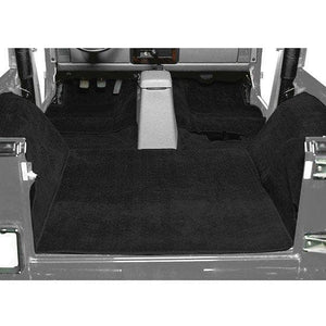 Seatz Deluxe Cut Pile Carpet Kit With Roll Bar Cut-Outs, Black, Interior Car Parts | 1986-1995 Suzuki Samurai with Soft Top, 75000-05C