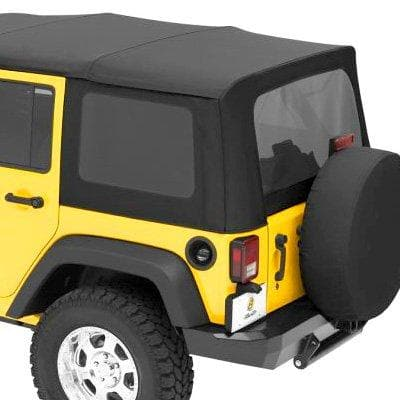 Jeep Bestop Tinted Window Kit For Sailcloth Replace-A-Top, Black Diamond | 2011-2017 Wrangler Unlimited JK, 58135-35