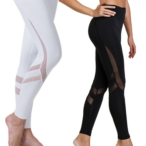 Mesh Splice Sport  High Waist Leggings