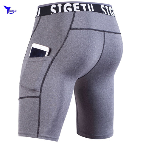 Quick Dry Elastic Mens Running Shorts
