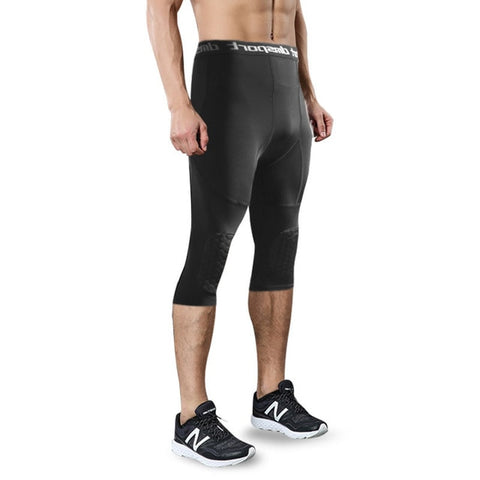 Honeycomb Knee pad pants support Compression Running tights men Leggings Anti-Collision Pants basketball Gym Sportswear trousers