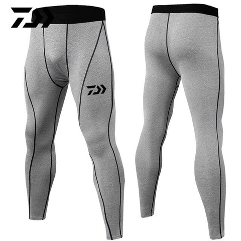 Daiwa Summer Sport Pants Fitness Body Pants Patchwork Breathable Anti-sweat Outdoor Running Riding Cycling Fishing Pants Bodycon