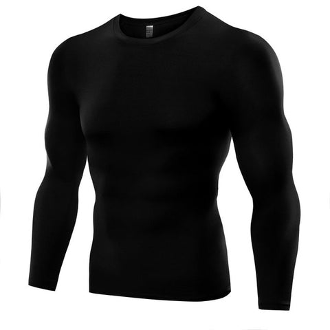 New 1PC Mens Compression Under Base Layer Top Long Sleeve Tights Sports Running T-shirts