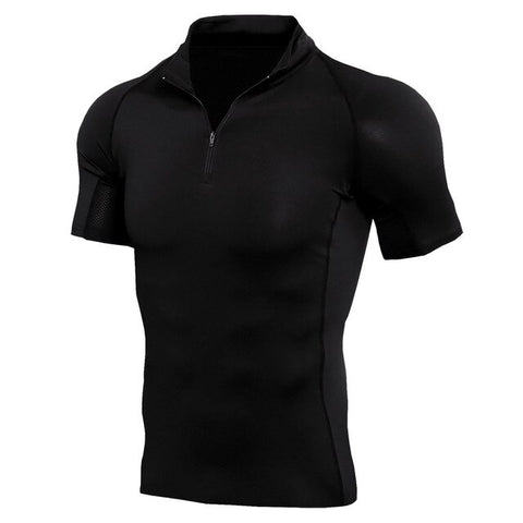 Bodybuilding Compression T Shirt Men Fitness Tight Tees Tops Muscle Short Sleeve Tshirt Poloshirt Elastic Workout Male T-shirt