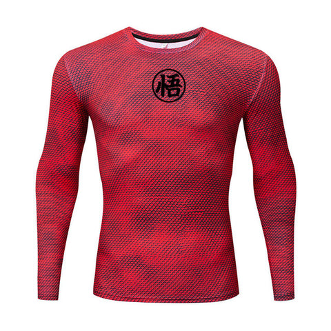 3D Printed T-shirt Compression Tights Men Fitness Running Shirt Breathable Long Sleeve Sports fitness tshirt Cycling Clothing