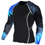 Fitness Mens Compression T Shirts 3D Tee Jerseys Long Sleeve Shirt Fitness Men Lycra Tshirt Tights Brand Clothing Tee
