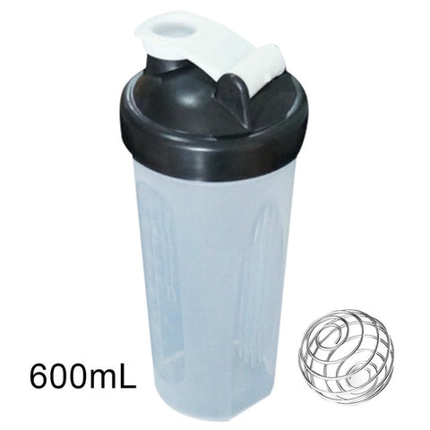 Hot Sale 400/600ml Protein Powder Mixing Cup Sealed Leakproof Shake Bottle with Stirring Ball X85