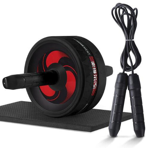 AB Wheel + Jump Rope  with Mat For Arm Waist Leg Exercise