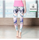 High Waist Super Stretch Slim  Printed Yoga Pants