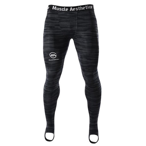 High Waist Slim Men Gym Compression Tights
