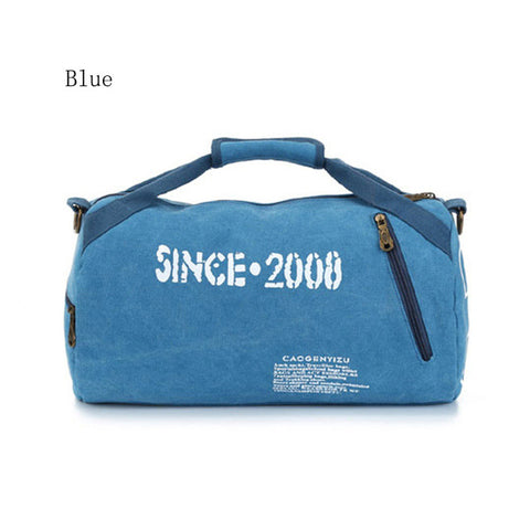 Canvas Gym Bag with Shoulder Straps