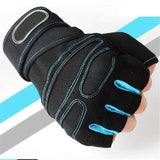 Solid Color with Stripped Pattern Crossfit Gloves