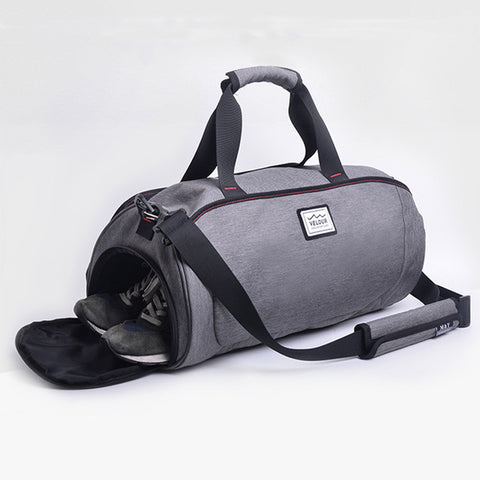 Casual Gym Bag with Shoes Storage